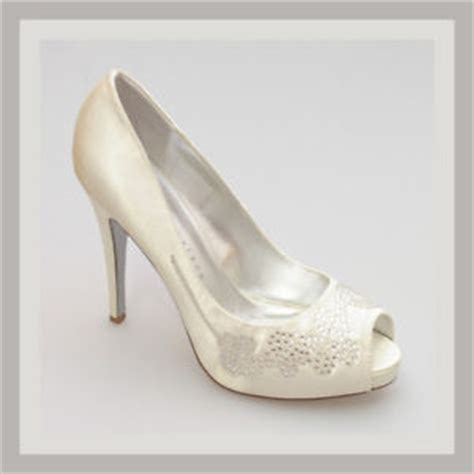 DESIGNER WEDDING BRIDAL SHOES IVORY SATIN PEEP TOE