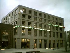 The NZX building with animated electronic signs