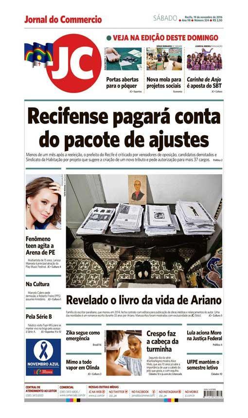 Capa do Jornal - 19/11/2016