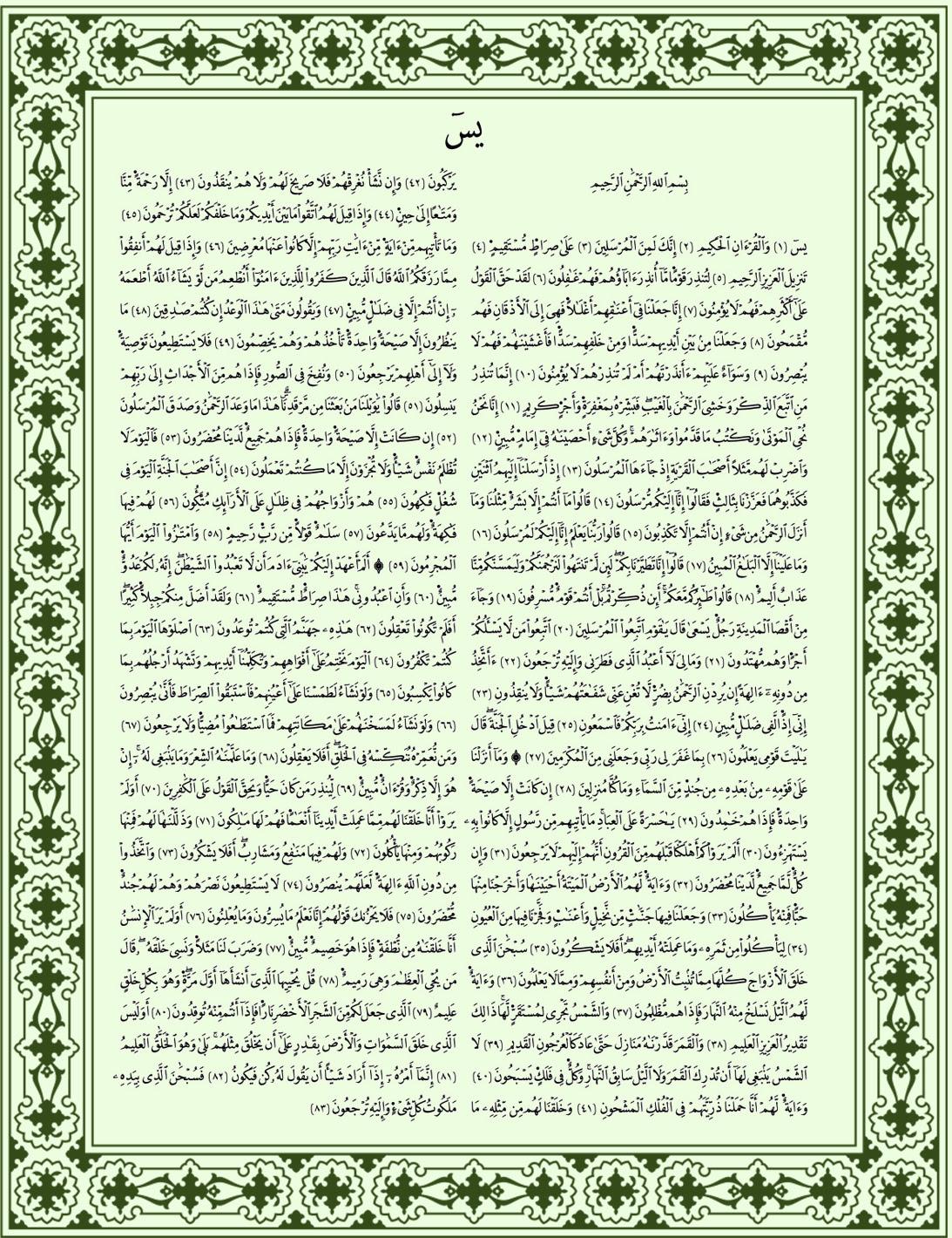 Surah Yaseen Full Transliteration In English - Surat Yasin 5