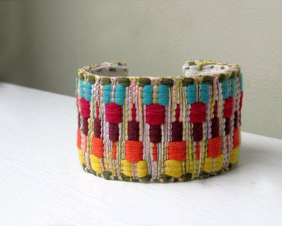 Tribal Jewelry Cuff Bracelet Boho Summer Chevron by TheWhirlwind,