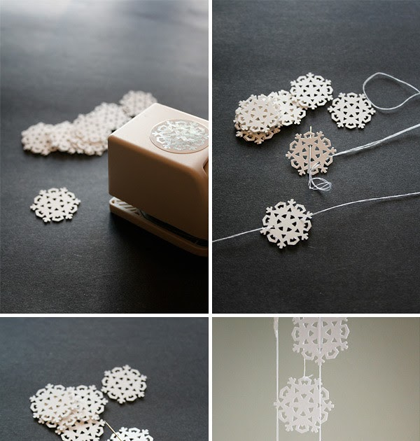 The Happy Heathen Snowflake Garland DIY