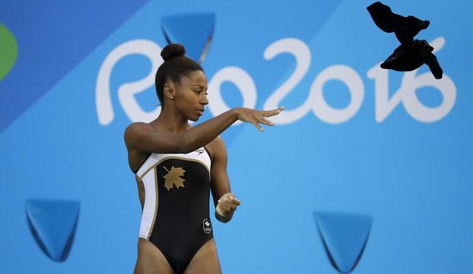 Jennifer Abel saltos ornamentais Rio 2016 (Foto: AP)