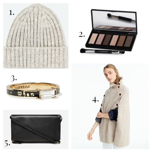 Uniqlo Cap - By Terry Eyeshadow - Foundrae Ring - J.Crew Cape - Everlane Crossbody