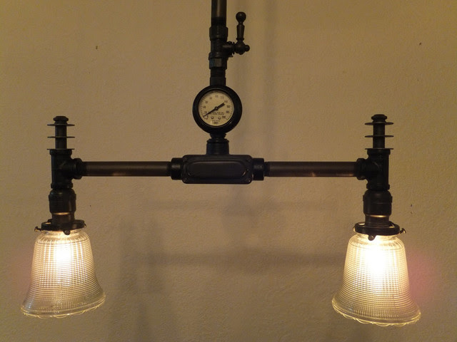 Steampunk style ceiling lamp