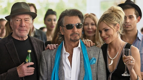 Pacino (middle) stars as a 1970s rocker in his new film Danny Collins