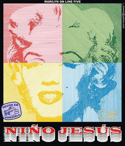 Marilyn On Line Five (Marilyn En línea Cinco) by Niño Jesús