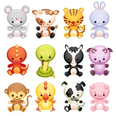 干支十二支動物キャラクターのイラストaieps ベクタークラブ