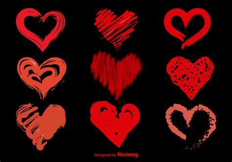 Hand Drawn Sketchy Vector Hearts   Download Free Vector