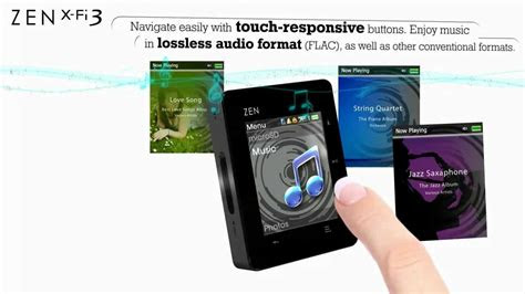 creative zen  fi bluetooth touch mp player