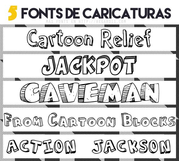 5 Fonts De Caricaturas Gratis Regardis