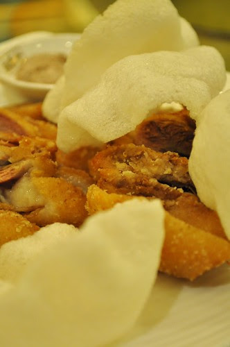 salted chicken and crackers