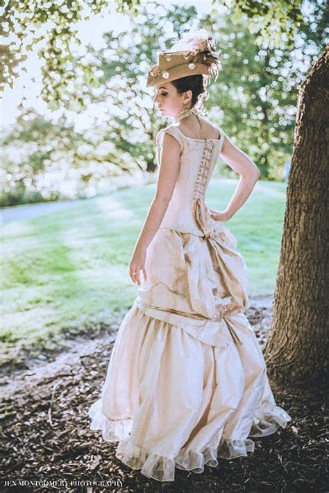 Victorian Bustle Gown Steampunk Wedding Dress Off the