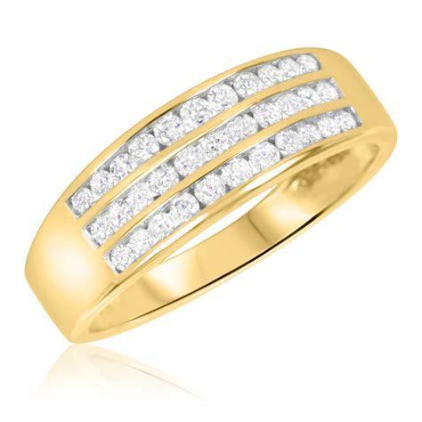 2/3 Carat T.W. Diamond Men's Wedding Band 14K Yellow Gold