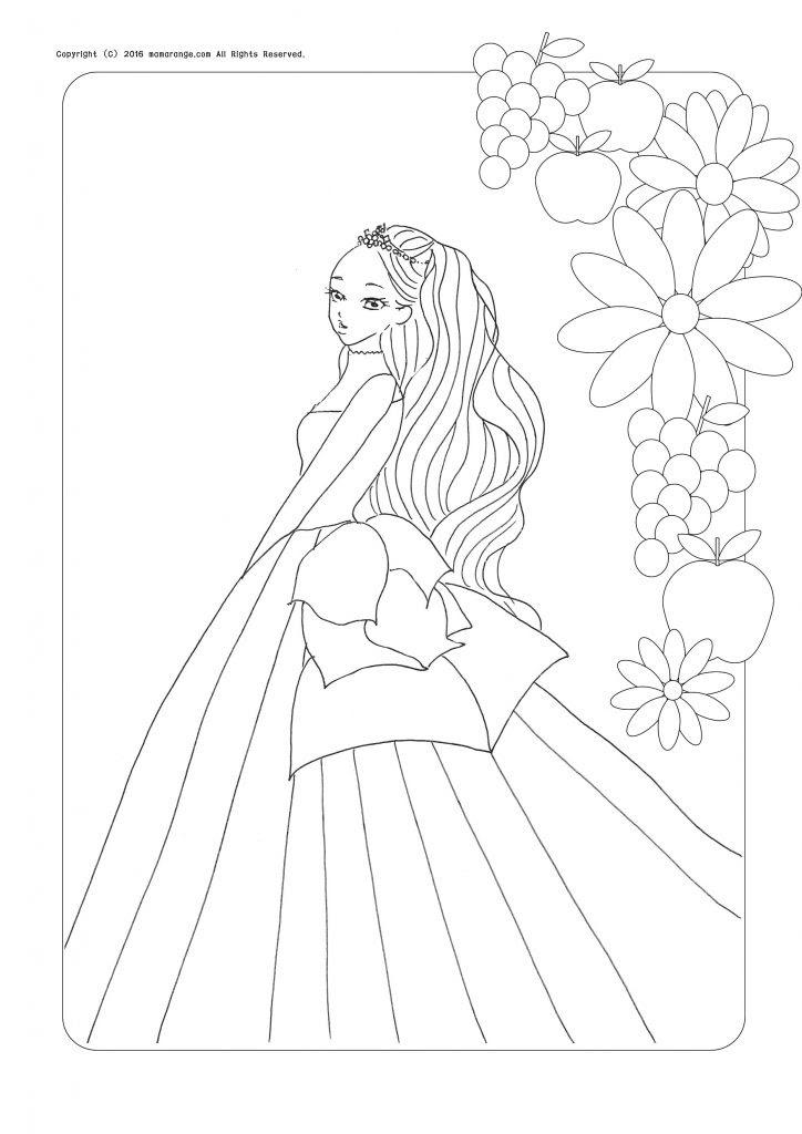 無料ダウンロードお姫様の塗り絵ちょっと大人の塗り絵をどうぞ Part3