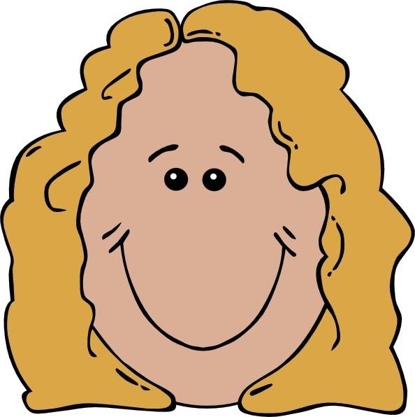 Lady Face clip art