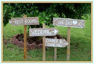wedding signs ideas     Wooden Wedding Signs, Rustic