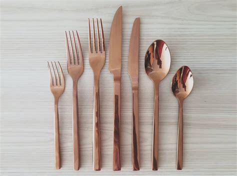 Copper (Rose Gold) Cutlery   Silk Estate