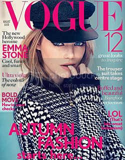 Emma Stone Covers Vogue U.K. August 2012 Issue