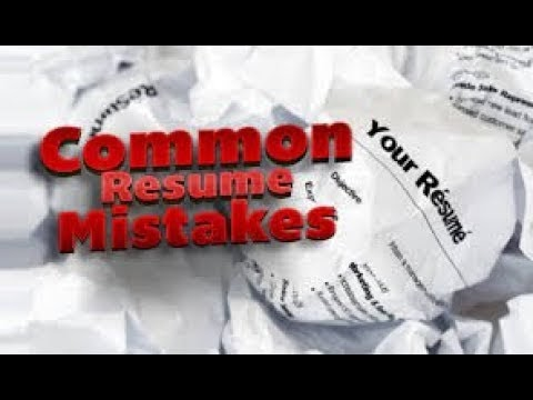 Mistakes and Blunders in your resume - and Why You Dont Get Jobs and Scholarships