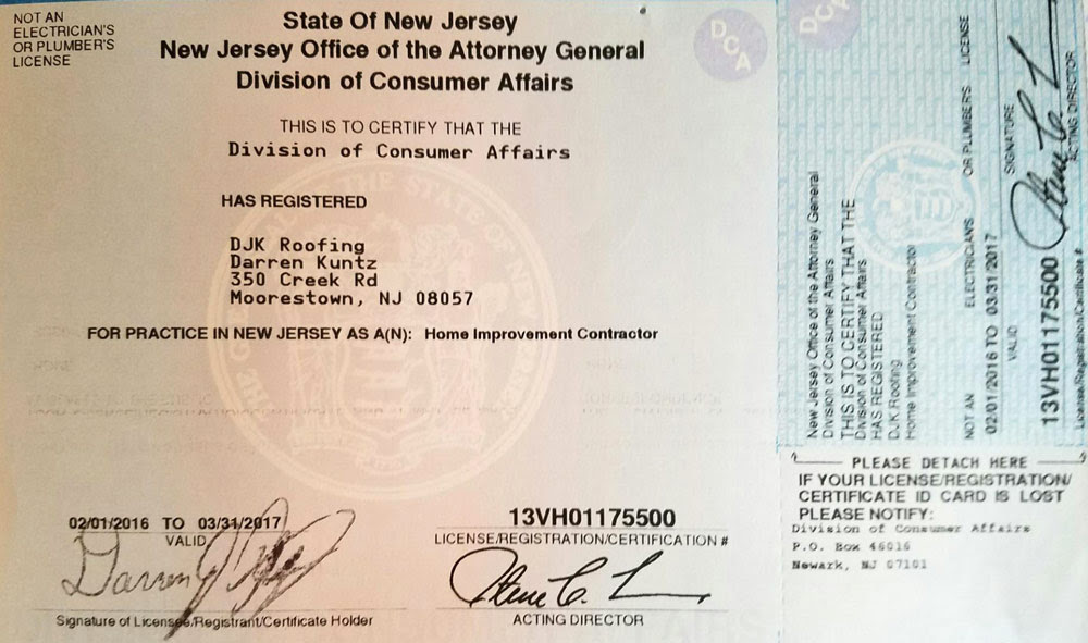 Certifications - Roofing Contractor in South Jersey - DJK ...