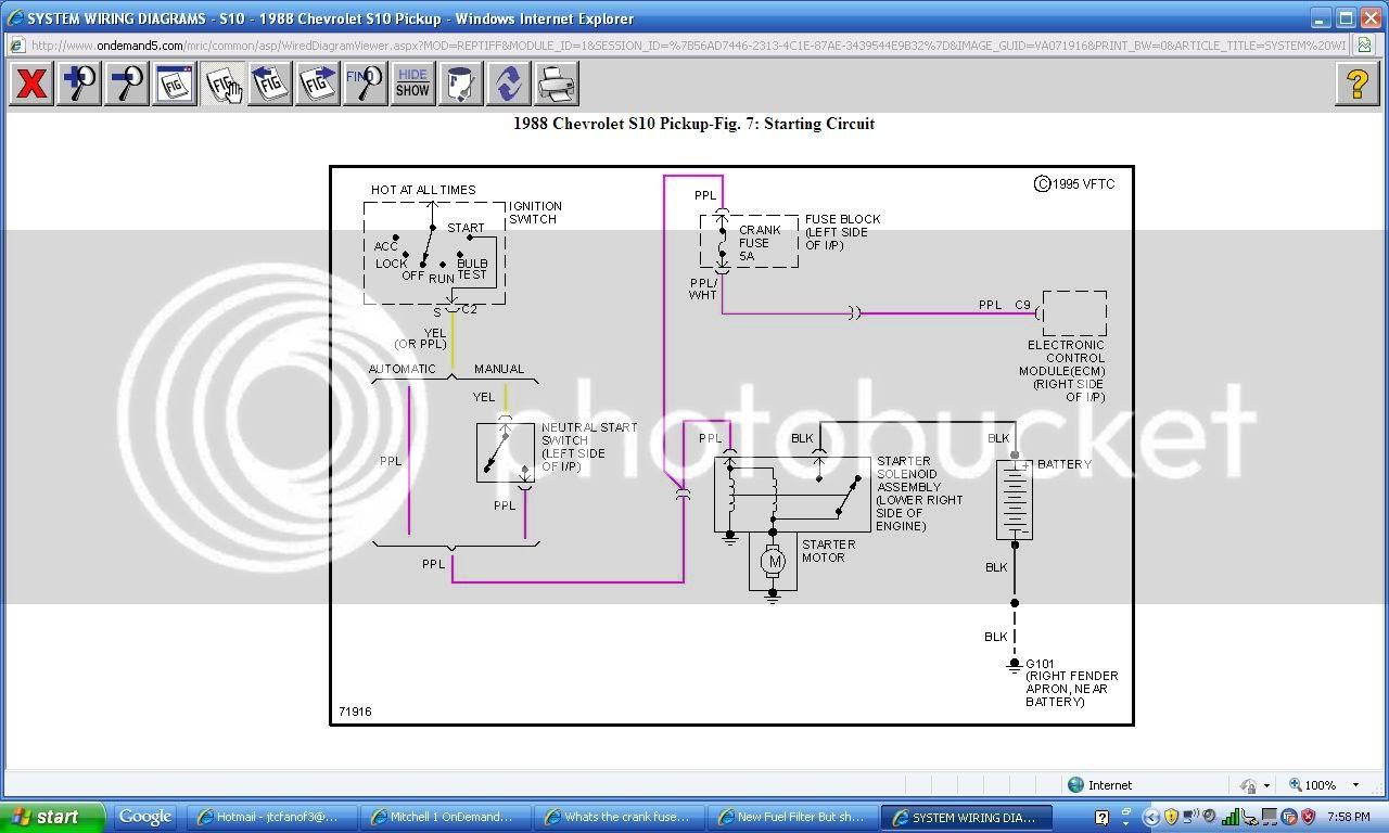 Starting Wiring Diagram For 1991 S10 - Complete Wiring Schemas