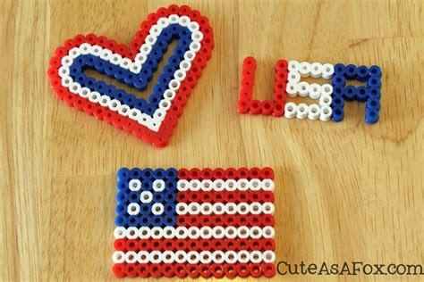 patriotic perler beads
