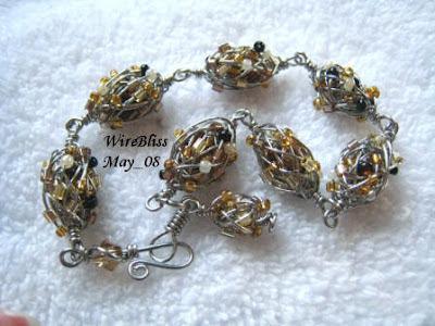 Heywire Bracelet & Coiled Earrings