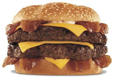 4-Top 10 comidas mais Calóricas do mundo- Hardee's Monster Thickburger