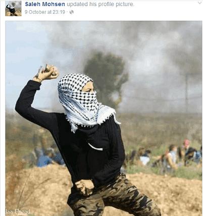 Salah Mohsen - rock-throwing image