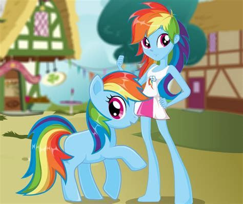 Rainbow Dash Pony VS Human