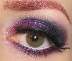 Glitter is my crack...: Pink, Purple and Plum eye makeup look via @Phyrra