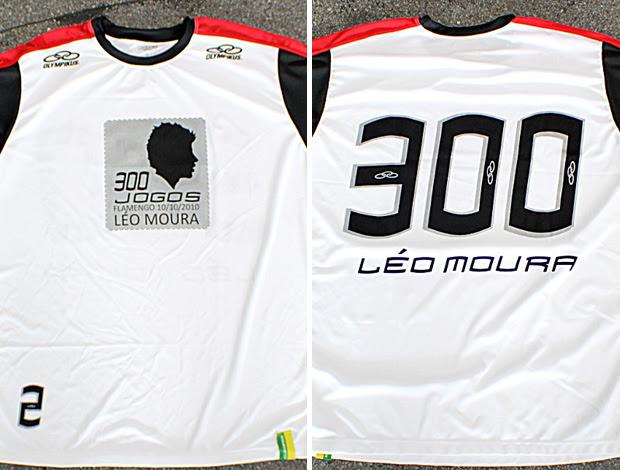 montagem camisa comemorativa leo moura flamengo