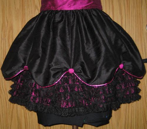 silk apron skirt