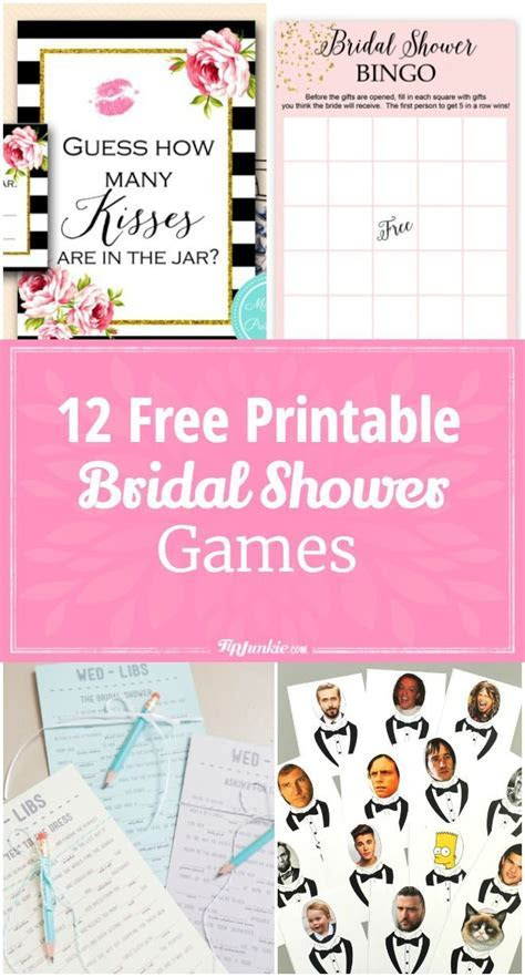 12 Free Printable Bridal Shower Games   Party Time