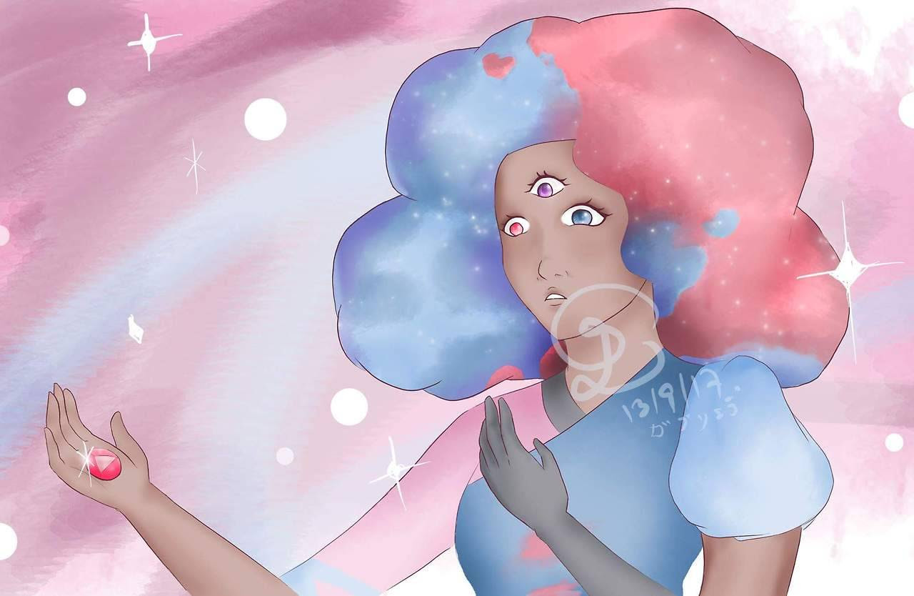 Not totally happy with this…. but at least I made myself do it until the end Cotton candy garnet from steven universe when she found the answer just as i did this week