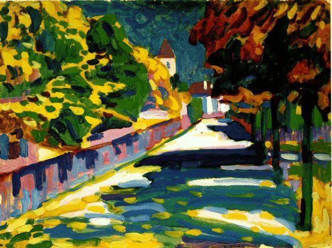 Kandinsky - Autumn in Bavaria. Clique para ver imagem no tamanho original