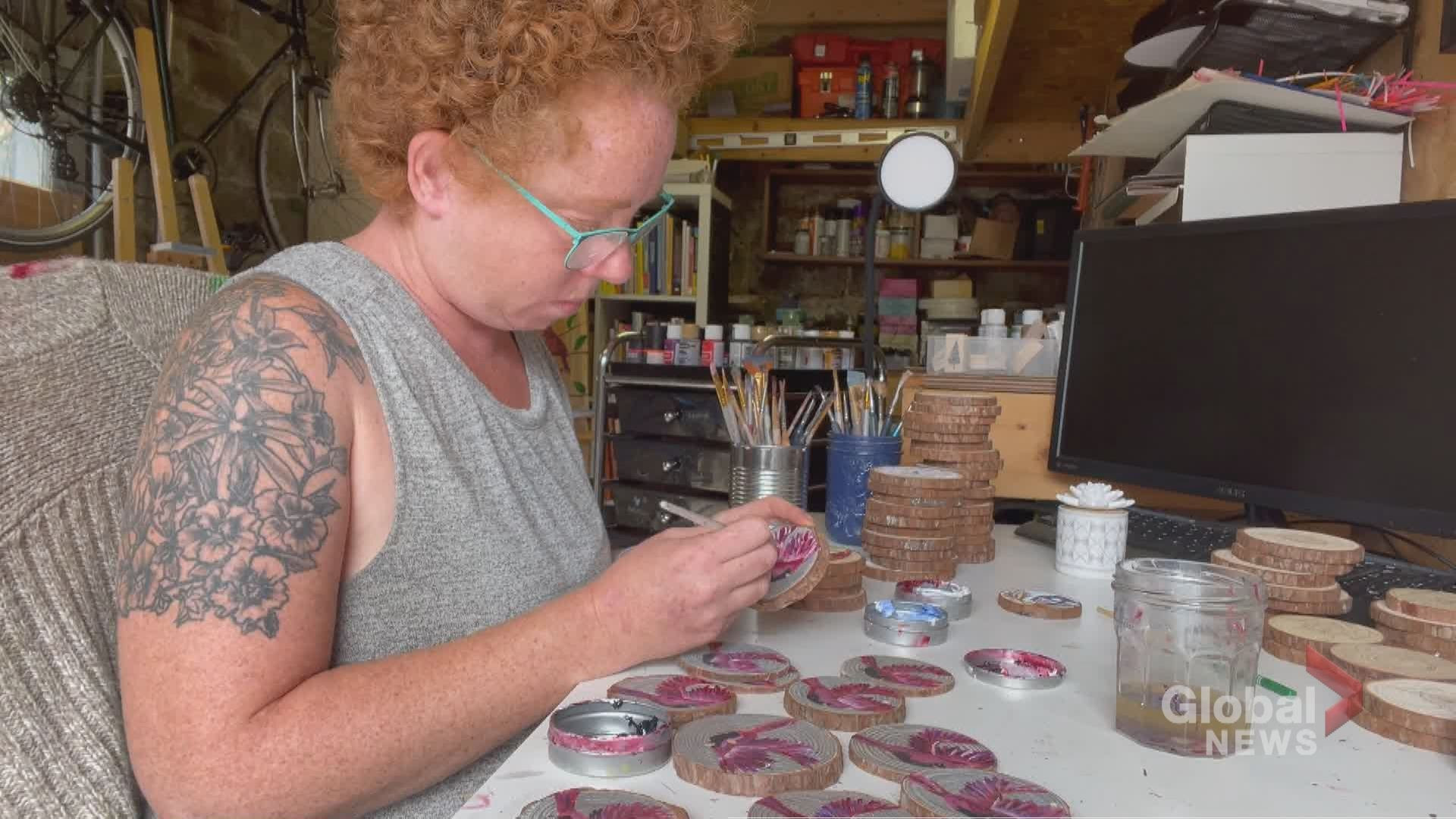 Toronto woman uses art as therapeutic tool and opportunity to give back | Watch News Videos Online