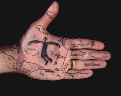 C'tait la main G de Barroux, l'illustrateur de QUAND L'AMOUR COURT, pour Guilherme