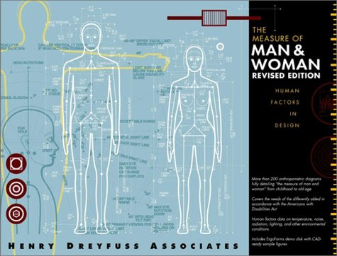 The Measure of Man and Woman: Human Factors in Design By Alvin R. Tilley, Henry Dreyfuss Associates