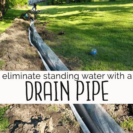 DIY install backyard drainage