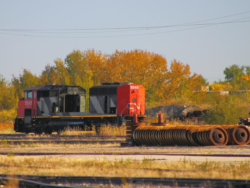 CN 5545 in Winnipeg