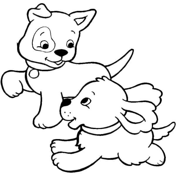 Disegno Di Cuccioli Di Cane Da Colorare Per Bambini