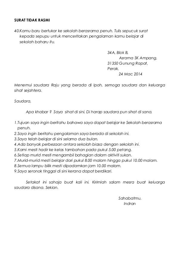 Surat Rasmi Cuti Sekolah Kerana Balik Kampung - Rasmi L