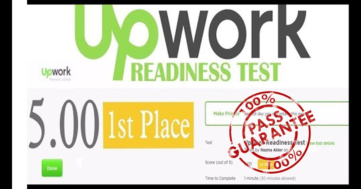 Upwork Readiness Exam Answers 2020 Upwork Readiness Test Question Answers Latest