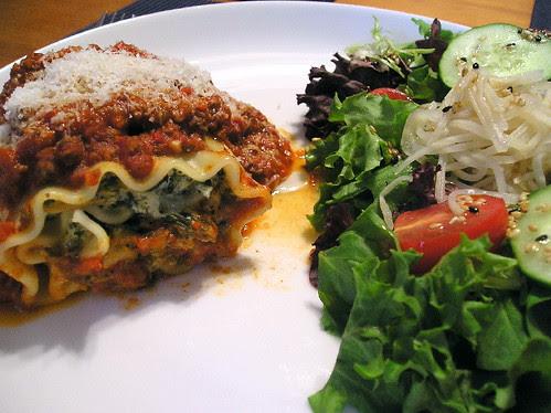 Roulés de lasagne aux épinard de Chef...Jacques