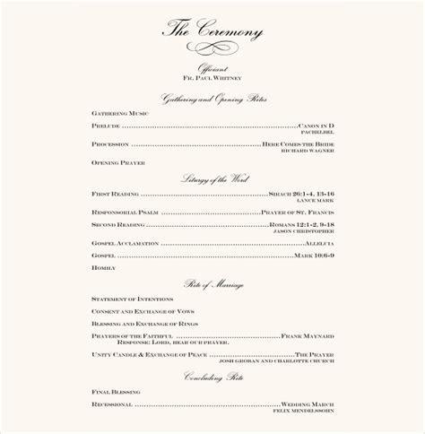 7  Wedding Reception Program Templates   PSD, Vector EPS