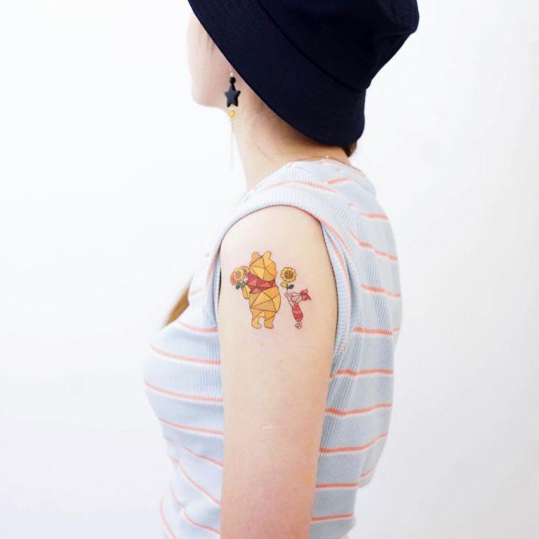 Winnie The Pooh And Piglet Tattoo By HK Zada Lam