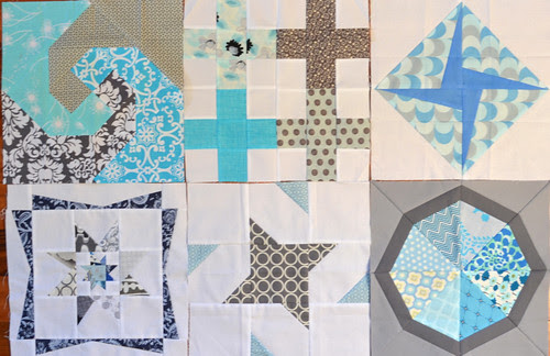 4 x 5 Modern Quilt Bee - Hive 1 Q 1 blocks received