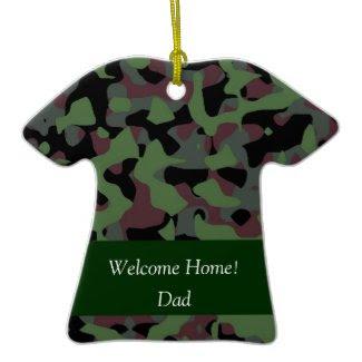 Military Camo Shirt Christmas Ornament ornament